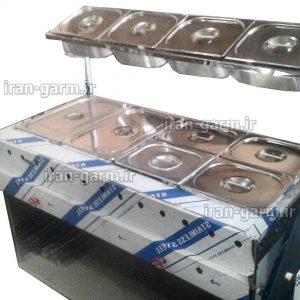 تاپینگ گرم نگه دار اغذیه همراه با سکوی دورچین 140 طول